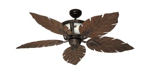 52' Venetian Tropical Ceiling Fan with Internal Light in Oil...