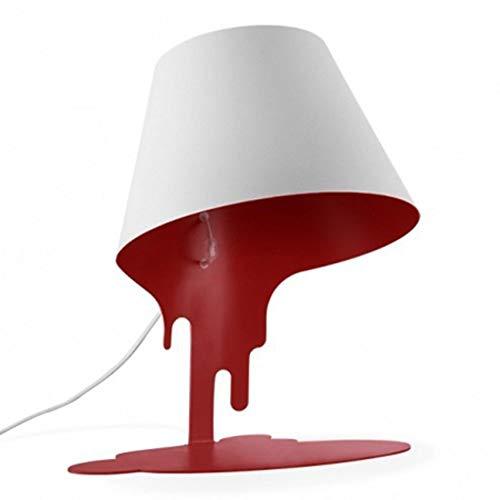 L.W.S Lámpara de Escritorio Lámpara Moderna, Minimalista, Dumping Pinte Bucket LED Lámpara de Escritorio, Dumping Pintar Cubo de Vidrio LED Nightlight con Hierro Completo Hecho Cuerpo for Dormitorio,