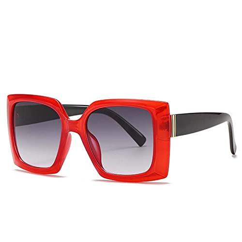 AMFG Gafas de sol de moda Europa y América Gafas de sol modernas Mujeres Trend Gafas de sol Summer SunScreen Viajes al aire libre (Color : E)