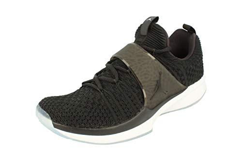 NIKE Air Jordan Trainer 2 Flyknit Mens Basketball Trainers 921210 Sneakers Shoes (UK 8.5 US 9.5 EU 43, Black White 010)