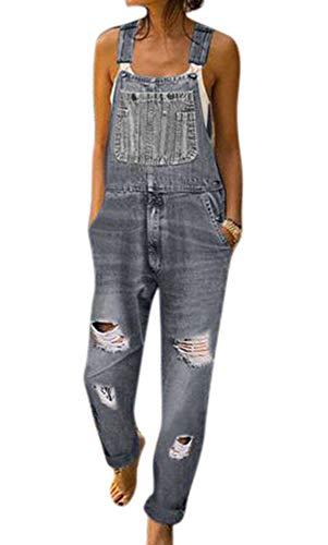 Damen Denim Latzhose Shorts Verstellbare Träger Overalls Spielanzüge Hot Pants One Piece