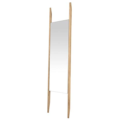 mokebo® Wandspiegel 'Der Hochbeinige' mit Holzrahmen in vielen Farben, auch als Standspiegel oder Ganzkörperspiegel, Standspiegel, Eichenholz Hell 02
