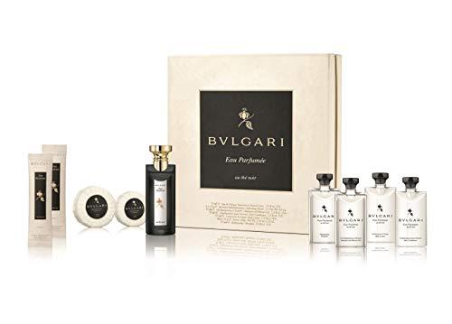 Bulgari Eau Parfumée au Thé Noir Guest Set (Eau de Cologne,75ml+Duschgel,75ml+Shampoo,75ml+Conditioner,75ml+Body Lotion,75ml+Seife,50g+Seife,75g), 400 g