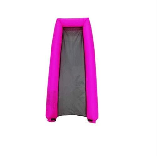 AHJSN Erwachsenes Nylonwasser, aufblasbares Sofa-Sich hin- und herbewegendes Bett faltet Größe: 200 * 73 * 17cm Einteiler stieg Rot