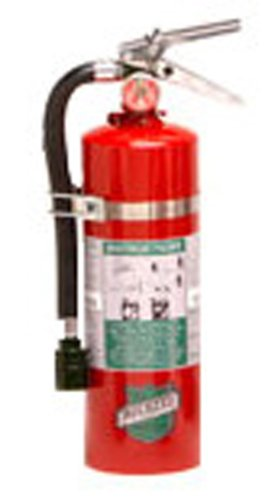 Buckeye 75550 Halotron Hand Held Fire Extinguisher with Aluminum Valve, 5.5 lbs Agent Capacity, 4-1/4