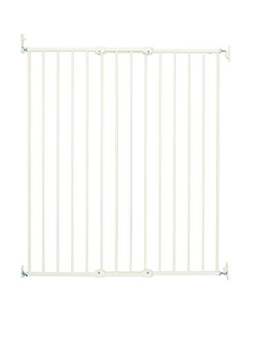 BabyDan - Puerta de seguridad extensible extra alta, color blanco