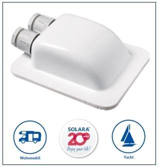 Solaraâ Premium Abs Solar Dachdurchf Hrung Dd2 Kabeldurchf Hrung Weiÿ, Perfekt Auch Für Sat-Anlagen