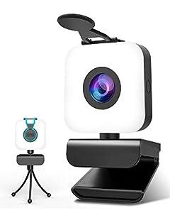 【Full HD 1080P Webcam mit Mikrofon】Ihre Webcam mit Mikrofon für den PC verfügt über eine Konfiguration von 1920 * 1080p für Aufnahmen und Live Videoanrufe. Die Webkamera mit Full HD Glaslinse liefert kristallklare Bilder mit einer Geschwindigkeit von...