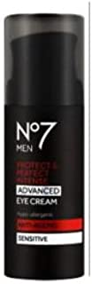 Boots No7 MEN Protect & Perfect Intense ADVANCED EYE CREAM ANTI-AGEING Sensitive 15ml-Visibly Improves Deep Lines and Wrinkles. FOR YOUNGER LOOKING SKIN IN JUST 2 WEEKS