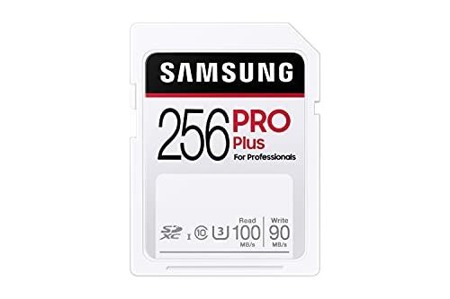 Samsung PRO Plus 256GB SDXC UHS-I U3 100MB/s Full HD & 4K UHD Speicherkarte (MB-SD256H/EU)