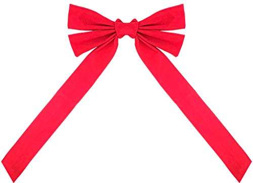 Celebrate A Holiday Large Red Velvet Christmas Wreath Bow, Dimensions of 12' W X 20' L - Great for Christmas Garland, Large Gifts, Parties and More - Indoor or Outdoor Christmas Decorations (1 Pack)