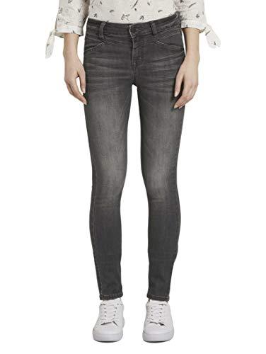 TOM TAILOR Damen Jeanshosen Alexa Skinny Jeans Grey Denim,31/32