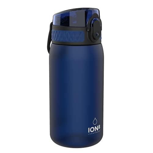 Ion8 Borraccia Bambini Senza Perdite, Senza BPA, Blu Navy