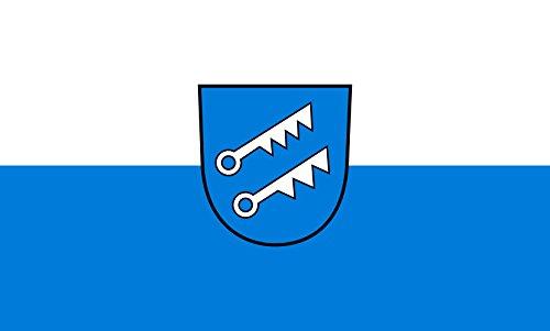 Unbekannt magFlags Tisch-Fahne/Tisch-Flagge: Hausen am Tann 15x25cm inkl. Tisch-Ständer