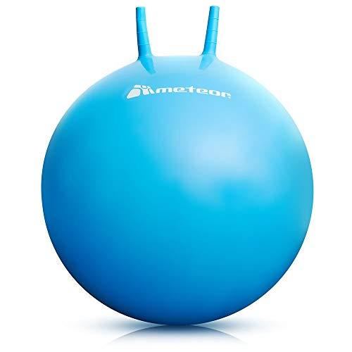 meteor Palla Saltare per Bambini - Bouncing Ball Divertimento - Pallone Rimbalzante - Pallone Saltando Gonfiabile Robusto - Canguro 55 o 65 cm (55cm, Blu)