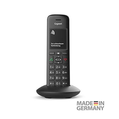Gigaset C570HX Universal-Mobilteil – Das schnurlose IP-Telefon (zum Anschluss an Ihren Router oder Basisstation – einfache Bedienung dank Farbdisplay und großer Nummernanzeige) schwarz