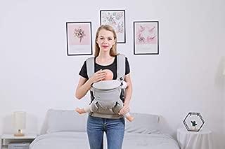 360 Carry Positions 四季婴儿背带,带臀部座椅背带,适用于 3-48 个月新生儿或幼儿灰