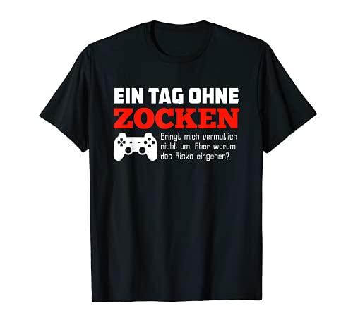 Un día sin Zock? Divertido jugador. Camiseta