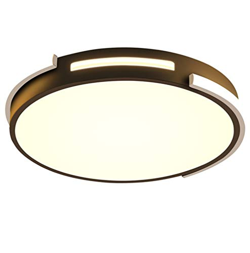 Led-plafondlamp, ultradun, 76 W, modern, afstandsbediening, dimbaar, creatief, rond, plafondlamp, licht, binnenverlichting, plafondlamp, lamp, slaapkamer, woonkamer, keuken, eetkamer, Ø42 × H6 cm, wit + zwart