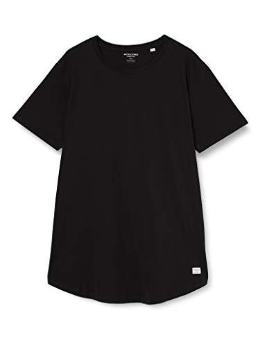 JACK & JONES Herren JJENOA Tee SS Crew Neck NOOS T-Shirt, Black, L