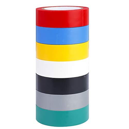MaoXinTek Isolierbänder Elektriker Klebeband Farbigen PVC Band Wasserdicht Elektrisches Isolierband 7 Stück