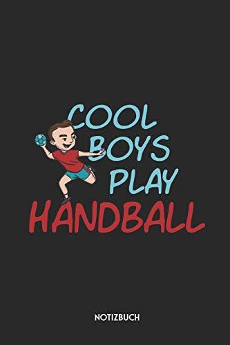 Cool Boys Play Handball Notizbuch: Schönes Büchlein für Handballer   Dotted Notebook / Punkteraster   120 gepunktete Seiten   ca. A5 Format   ...   Journaling Geschenk für Kinder, Jungen