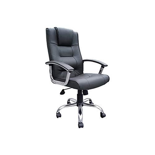 Office Furniture Online Loughborough Chefsessel mit Lederfaserstoff-Bezug | Schwarz