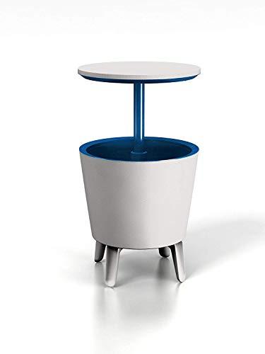 Keter Cool Bar Plastic Outdoor Ice Cooler Table Garden Furniture - Cream Blue