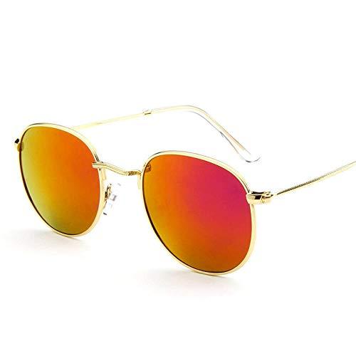 Zonnebrillen Voor Herenaankomst Metalen Ronde Zonnebril Vrouwen Retro Spiegel Zonnebril