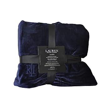 Ralph Lauren Micro Mink Blanket - Navy- King Micromink classic