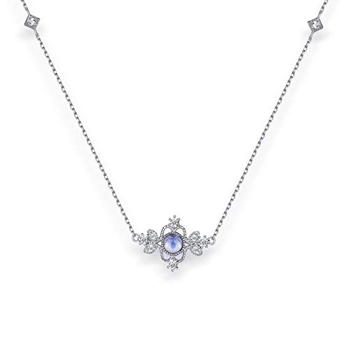 ZHANGQIAN Collar de Mujer, Collares Colgantes de Plata esterlina 925, Regalos de Boda de cumpleaños