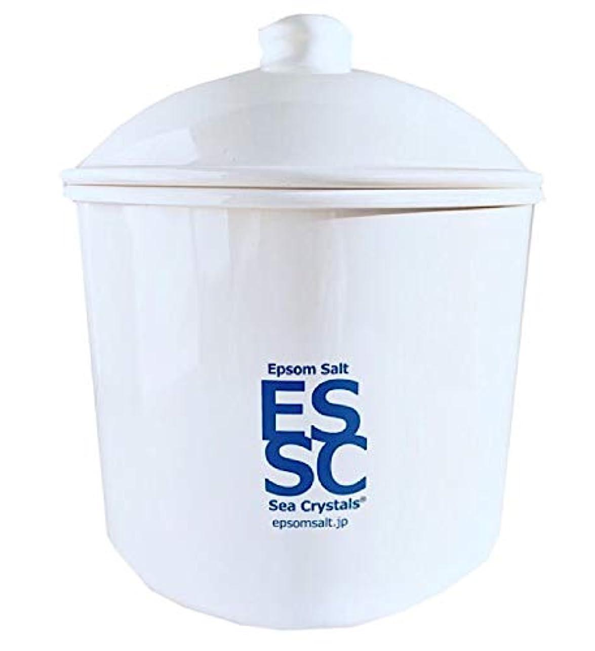 罰する愛国的な小道シークリスタルス 国産 エプソムソルト 入浴剤 ケース入り2.2kg 約14回分 計量スプーン付き 無香料 硫酸マグネシウム