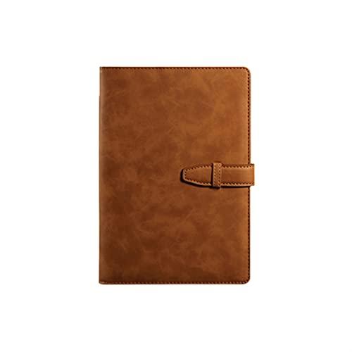 A5 Hardcover Cuaderno Planificador de cuero Calendario Organizador Oficina Oficina Bloc de notas B5 Big Business Bloc de notas Papelería (Color : 220x150mm)