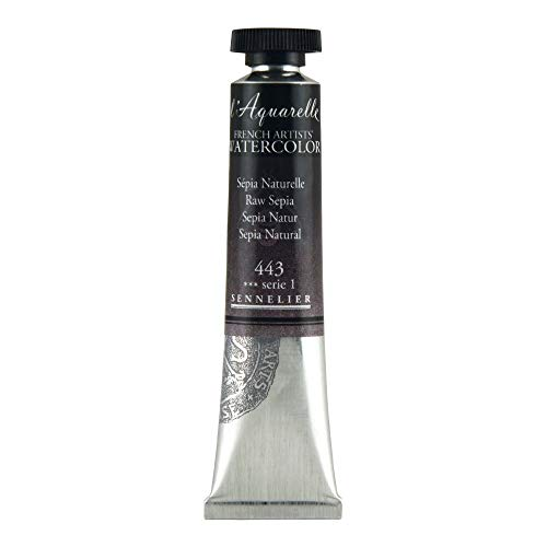 Sennelier L'Aquarelle French Watercolor, 21ml Tube, S1 Raw Sepia