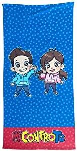 official product Me Contro Te Telo Mare 70 x 140 Azzurro e Rosa LUì e SOFì
