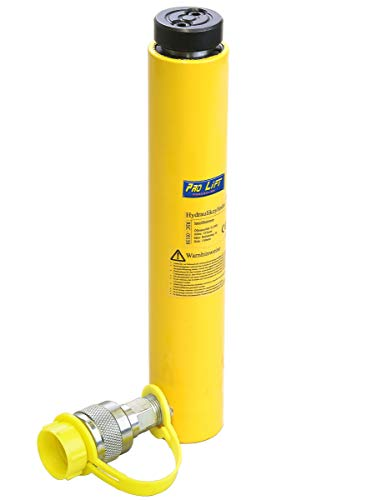 Pro-Lift-Werkzeuge 5 t Hydraulikzylinder Kolbenhub 150 mm Hydraulikpumpe Arbeitszylinder cylinder 5000 kg Druckkraft Schwerlastheber einfachwirkend 5t