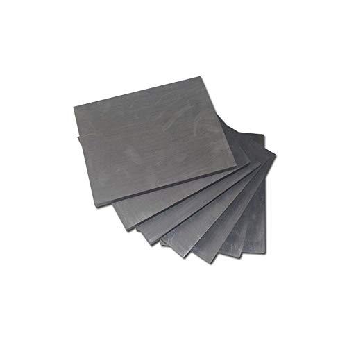 Hzonder Graphitplatte Blatt-Pure Carbon Electrode Elektrolysen Batterie-Platten, Kupfer, Alumium Metal Casting,60mm×40mm×7mm