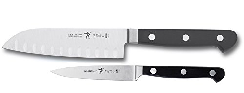 HENCKELS CLASSIC Asian Knife Set, 2-piece, Black/Stainless Steel 2 Piece Asian Cutlery Set