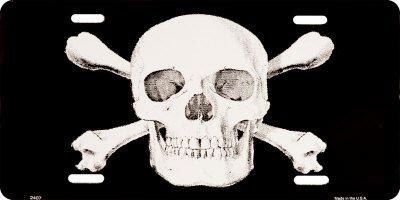 Skull & Crossbones License Plate , 12x6
