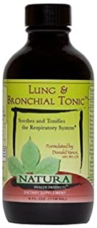 Lung and Bronchial Tonic by Natura Health Products - 4 oz. Liquid - Extracts That Support Healthy Lung, Bronchial Function...