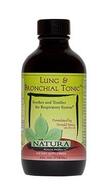 Lung and Bronchial Tonic by Natura Health Products - 4 oz. Liquid - Extracts That Support Healthy Lung, Bronchial Function, Soothes, Nourishes and Relaxes The Respiratory System