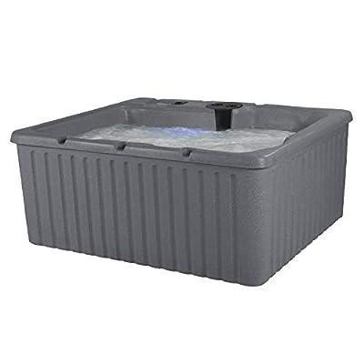 Essential Hot Tubs 14-Jet 2020 Newport Hot Tub, Seats 3-4, Gray Granite