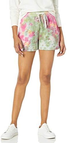 The Drop Women s Michaela Fleece Side Slit Short Neon Tie Dye M product image
