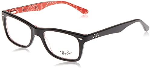 online glasses retailers Ray-Ban Women's Rx5228 Square Prescription Eyeglass Frames