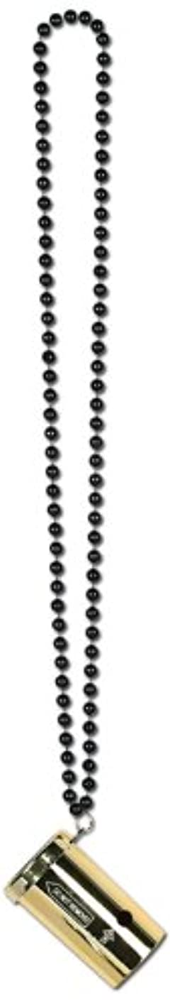 Beads w/Metallic Sonic Blaster (black & gold) Party Accessory  (1 count) (1/Card)