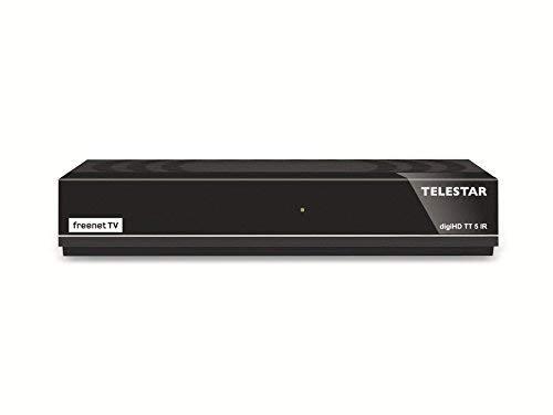 Telestar digiHD TT 5 IR DVB-T2 / DVB-C HD Receiver mit Irdeto Entschlüsselung (inkl H.265/HEVC, Kabel Empfang,  HDMI, AV-Ausgang, USB, LAN) schwarz