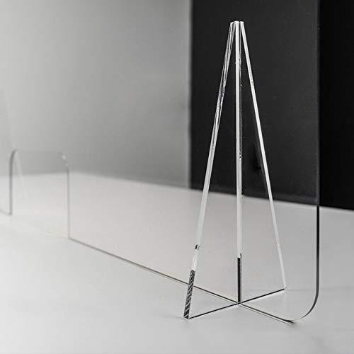 Mampara de mostrador de policarbonato ultra resistente modelo Diamond con ventana central | Mampara separadora anticontagios