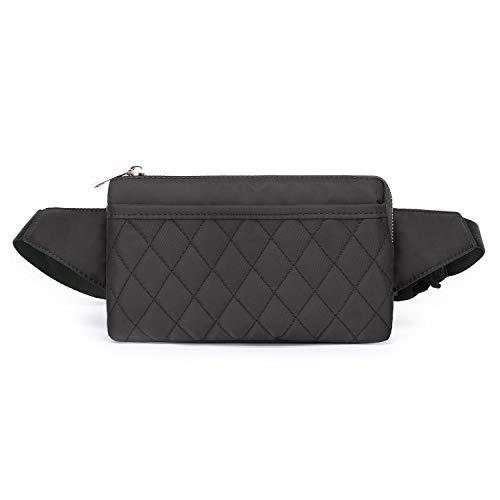 Wind Took Damen Brusttasche Bauchtasche Hüfttasche Handytasche für Party Reise Wanderung Outdoor Alltag Anti-Diebstahl, Grau, 21 x 8 x 12 cm, Klein