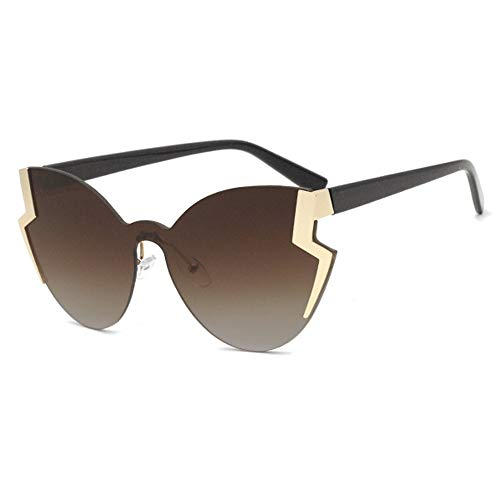 Stella Fella Metal Personalidad Gafas De Sol Señoras Retro Ojo De Gato Europa Y Los Estados Unidos Tendencia Moda Oro Marco Té Color Degradado Lente