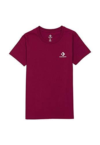Converse T-Shirt Damen Chest Star Chevron 10018270 Lila 507, Größe:XS